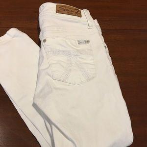Seven7 Jeans - White Skinny Jeans